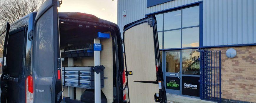 Sortimo van racking in a Ford Transit